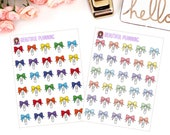 Bow Paperclip Planner Stickers for use in ERIN CONDREN LIFEPLANNER ™, Happy Planner, Tn, Midori,