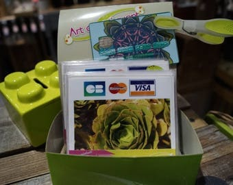 Artichoke green credit card stickers