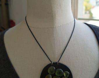 Round slate necklace