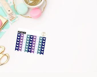 Feather Checklist, planner stickers