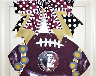 Florida State door hanger, FSU door hanger, Florida Football decor, FSU Seminoles football