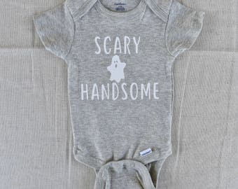 Baby Boy Clothes,Halloween Onesie, Scary Handsome Onesie, Boo Onesie, Fall Onesie, Daddy Onesie, Trick or Treat  Onesies, Halloween