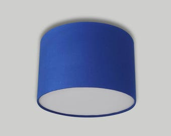 Blue Ceiling Drum Lampshade with White Diffuser Lightshade Lamp Shade 20cm 25cm 30cm 35cm 40cm 50cm 60cm 70cm