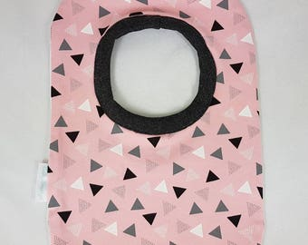 Bib Pink with triangles