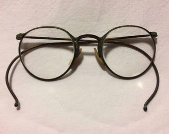 Vintage American Optical Ful-Vue Eyeglass Frames Old Antique 1940s Glasses Rusty Patina Eye Glasses Frame Rx Eyeglasses 43-18-130 E11 AG7023