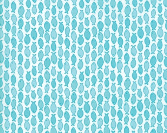 Moda RAINY DAY! Quilt Fabric 1/2 Yard By Me & My Sister - Puddle Turquoise 22296 13