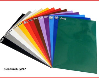 Colour GLOSS FINISH Self Adhesive A4 Sheet Sticky Back Vinyl Craft Paper DC Fix Sticker Card Making Scrapbook