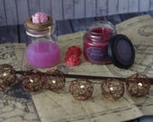 Love Potion (small) / Bookish Candle / inspired from Harry Potter / pink