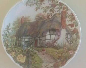 """Royal Albert Bone China Dream Cottages """"AUTUMN"""" Collectible Plate"""