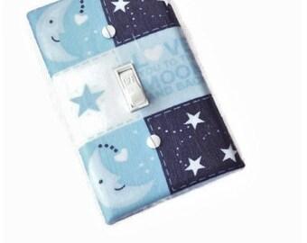 Love You to the Moon and Back Boys Nursery Light Switch Cover | Boys Nursery Décor | Blue Nursery Décor | Baby Nursery Wall Art