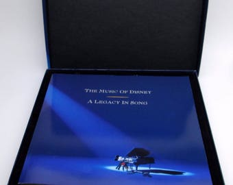 The Music of Disney: A Legacy in Song [Box] with Book NM/VG+ 3 Cassettes