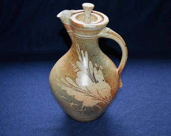 Studio Pottery Jug with Lid Signed Nelson '86