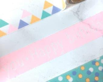 Tiffany Blue Washi Tape - Tiffany Blue Tape - Tiffany Blue Today is the day 1 Tape - Tiffany Blue Stationery - Petit Bout de France