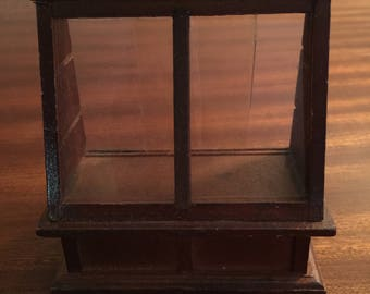 wooden doll house display case