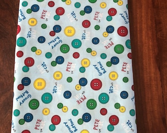 Pete the Cat fitted crib sheet