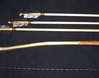 Handmade Kid's Bow and 3 Arrows