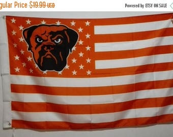 PRE-SEASON SALE 30% Off Cleveland Browns Dawg, Browns Nation Flag or Banner 3' x 5' Browns Man Cave