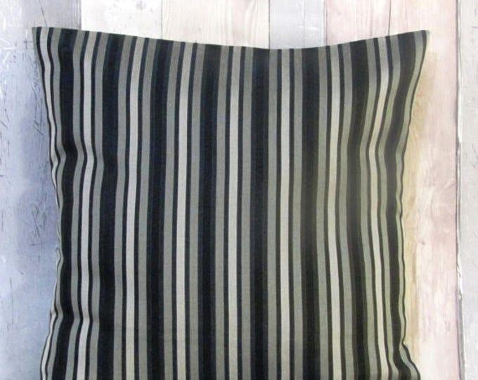 Xmas Striped Black/Silver Cushion Cover, Throw Pillow, Accent Pillow,Couch and Sofa Cushion,Cushion Gift