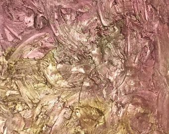 Original Textured Acrylic Painting on Stretched Canvas - Sandy