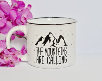 13oz The Mountains Are Calling campfire mug