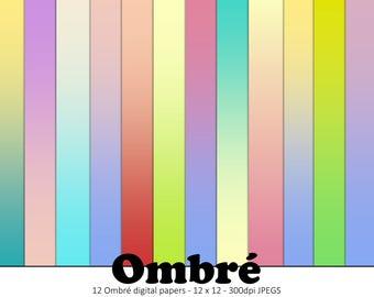 Sale / Scrapbook Paper Pack / Digital Paper / Digital Paper Commercial Use / Ombre Digital Paper / Digital Paper Summer / Digital Background