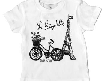 """La Bicyclette"""" Baby/Toddler Tee"""