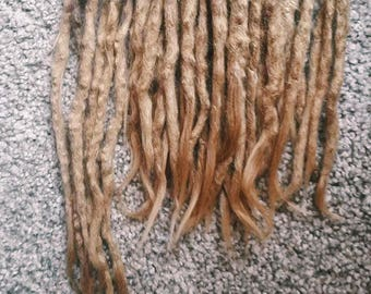 45 Human Hair Dradlocks Extensions,  Crochet Hook Dreads, Full Head Set, Very Natural Look Medium Thickness Dreadlocks