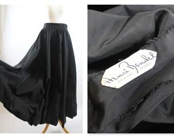 Rare! Henri Bendel 1940's true vintage Dance/ swing taffeta skirt