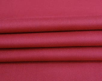 """Dark Pink Rayon Fabric, Dressmaking Material, Sewing Decor Fabric, Crafting Fabric, 40"""" Inch Fabric By The Yard PZBR3I"""