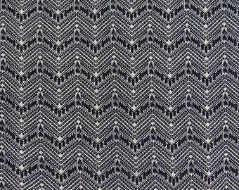 "Polyester Quilting Fabric, Black Printed, White Fabric, Dressmaking Fabric, Home Decor, 42"" Inch Fabric By The Yard ZBP46A"