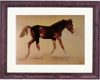20x24 Framed/Unframed Kicking Up the Dust by Spencer Hodge, Horse Art Print, Animals, Horses, Framed Horse, Equestrian, Wood