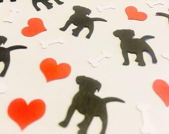 Puppies Confetti, Dogs die cuts, Pet lovers, Pet party decoration, Babyshower  decoration