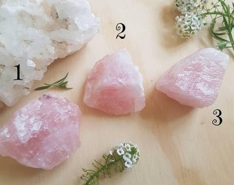 Raw Rose Quartz Chunks // Rough Natural Crystals & Stones // Heart Chakra Healing