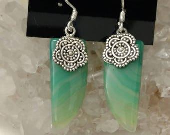 Pretty Green Botswana Agate Earrings