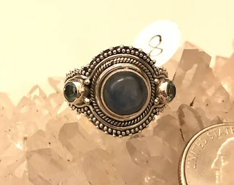 Kyanite and Blue Topaz Ring Size 8