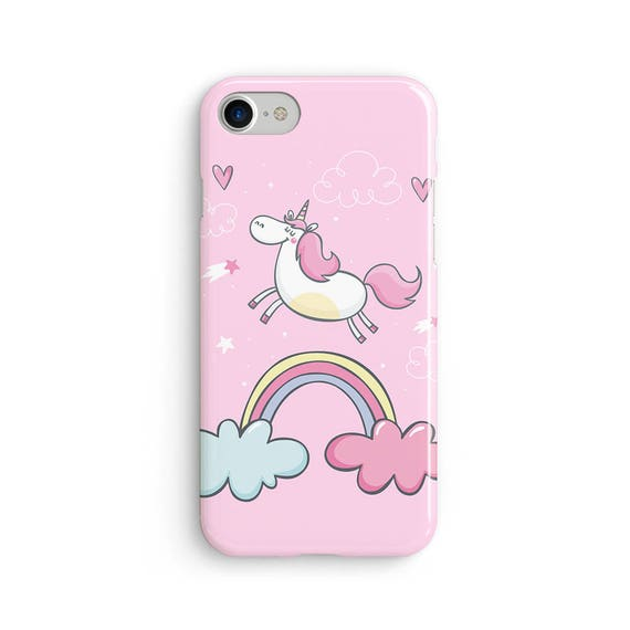 Unicorn rainbow cloud hearts - iPhone 7 case, samsung s7 case, iphone 7 plus case, iphone se case 1P055