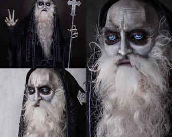The Schema Priest - hand made gothic horror sculpture
