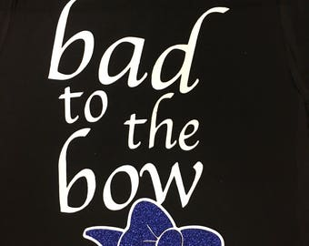 Bad to the Bow Cheer/Gymnastics Tee