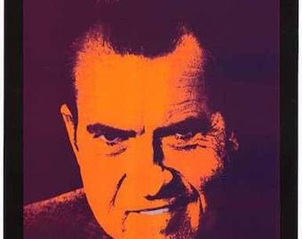 Richard Nixon Love American Style Rare Vintage Poster