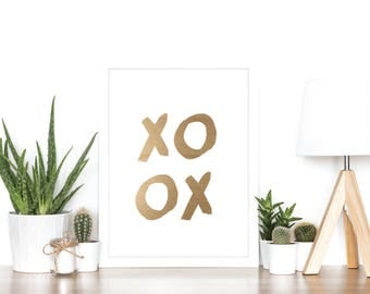 XOXO - Rose Gold Foil Print