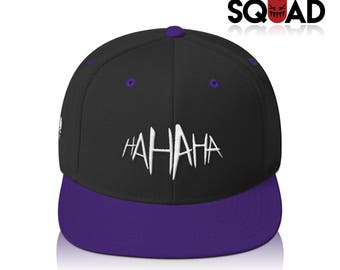 "Black | Purple ""HA HA HA"" Joker Suicide Squad Snapback"