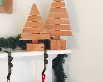 Rustic Christmas Trees - Set of 2