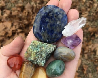 Mixed Crystal Chakra Set