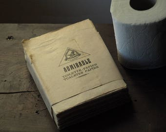 1940s toilet paper. Funny gift. Tissue paper. See-through paper. World War 2 collectible. WW2paper.