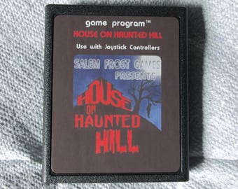Atari 2600 The House On Haunted Hill Video Game Cartridge Homebrew < FREE SHIPPING >