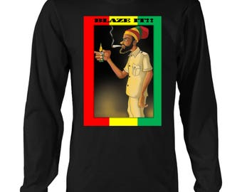 Blaze it Ras Long sleeved T-shirt MENS RLW669