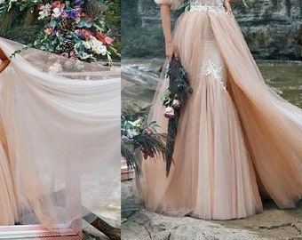 Wedding dress , REMOVABLE SKIRT +100 Euro, VEIL + 70 Euro