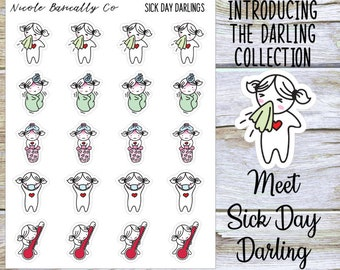 Sick Day Darlings Planner Stickers