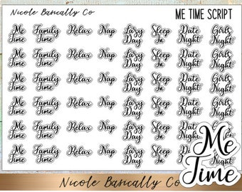 Me Time Script Planner Stickers