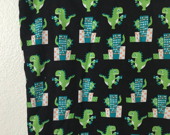 Godzilla and minky crib blanket